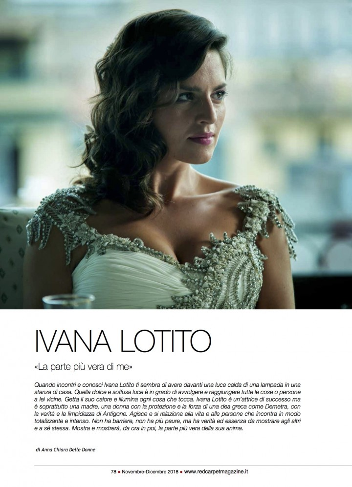 IVANA LOTITO SU RED CARPET MAGAZINE