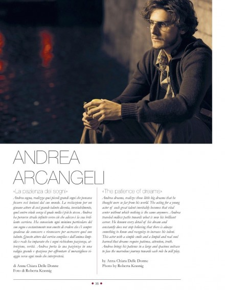 ANDREA ARCANGELI SU RED CARPET MAGAZINE