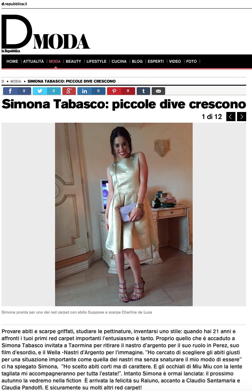 D di Repubblica - Simona