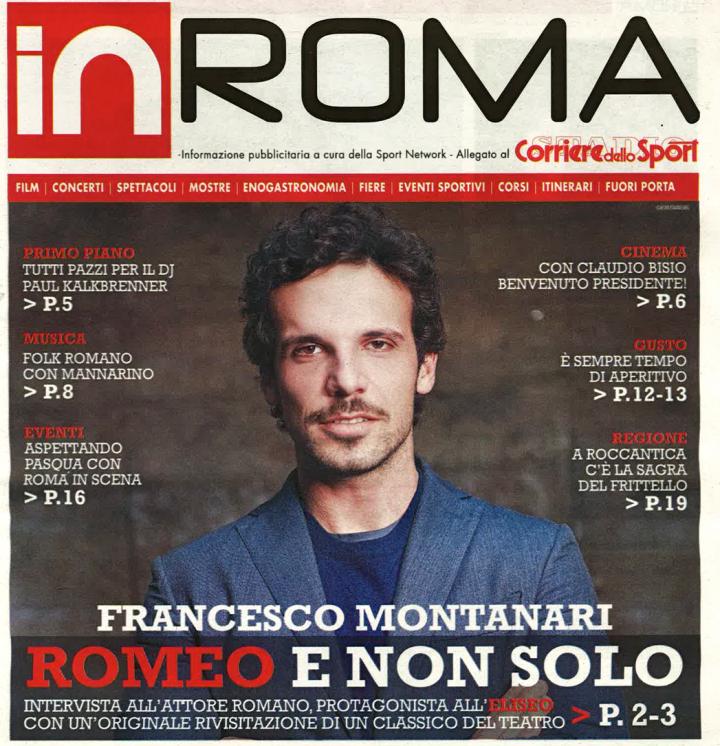 FRANCESCO MONTANARI SULLA COVER DI INROMA