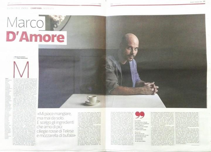 MARCO D'AMORE SU FOOD ISSUE-CORRIERE DELLA SERA
