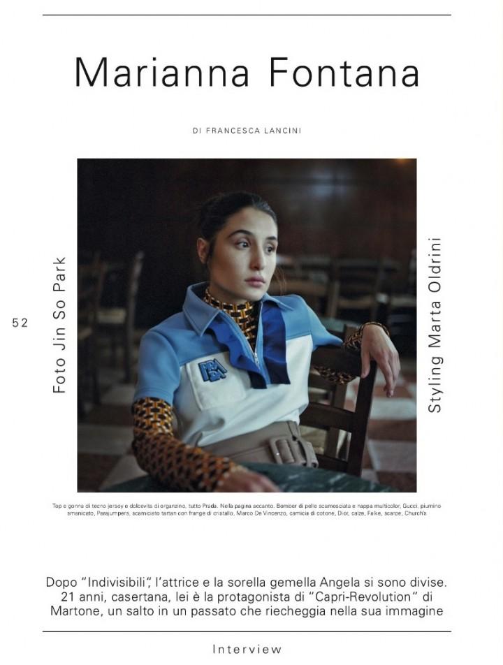 MARIANNA FONTANA SU L'OFFICIEL