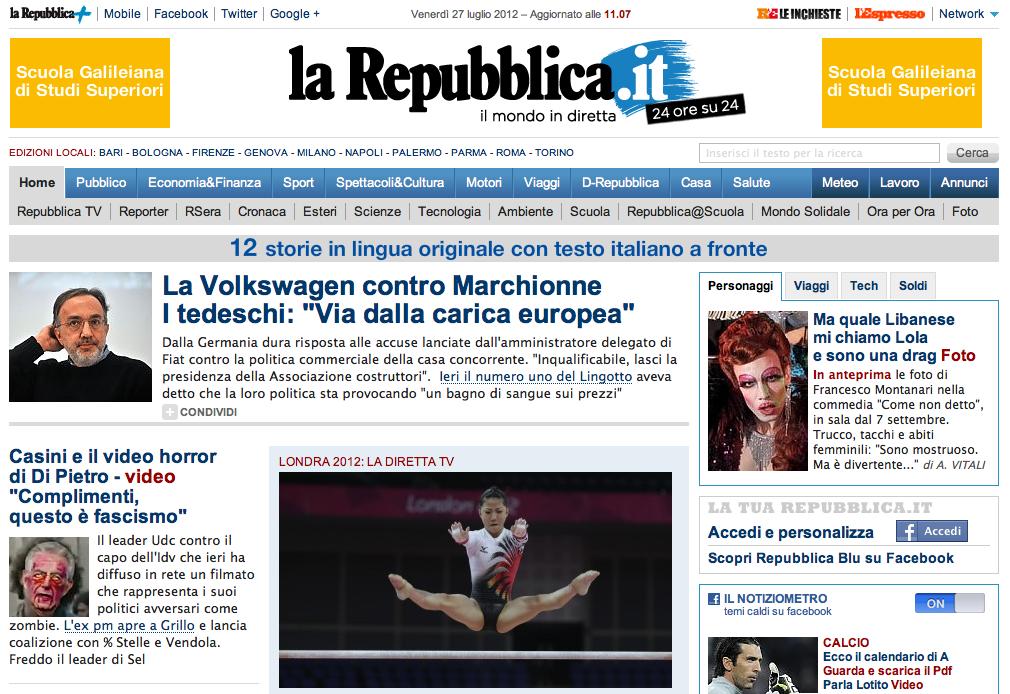 Francesco montanari si trasforma in una drag queen woolcan for Home page repubblica