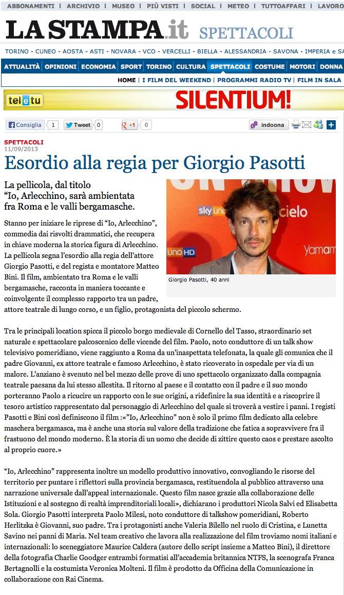 Pasotti - La Stampa