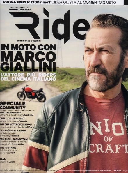 MARCO GIALLINI SULLA COVER DI RIDERS