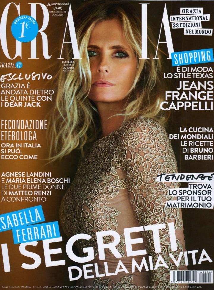 """ISABELLA FERRARI – COVER """"GRAZIA"""""""