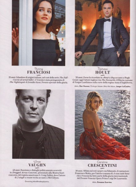 CAROLINA CRESCENTINI SU VANITY FAIR