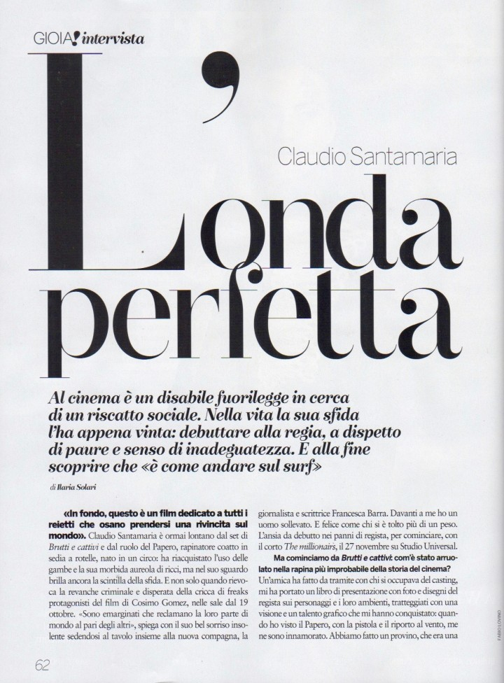 CLAUDIO SANTAMARIA SU GIOIA