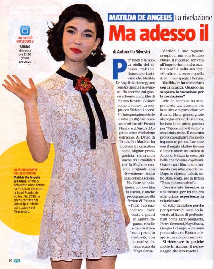 MATILDA DE ANGELIS SU TV SORRISI E CANZONI