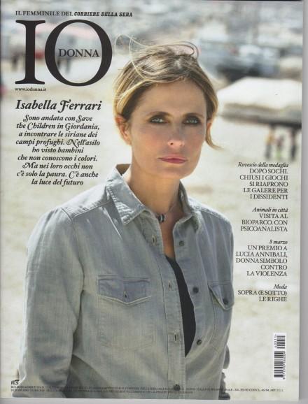 """ISABELLA FERRARI- COVER  """"IO DONNA"""""""