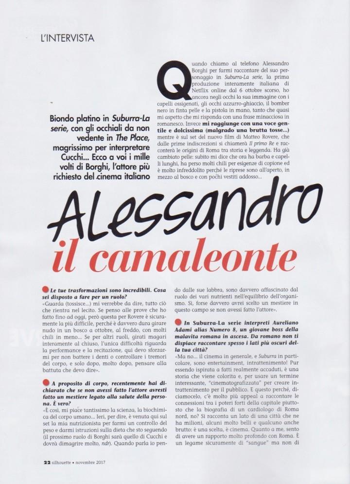 ALESSANDRO BORGHI SU SILHOUETTE