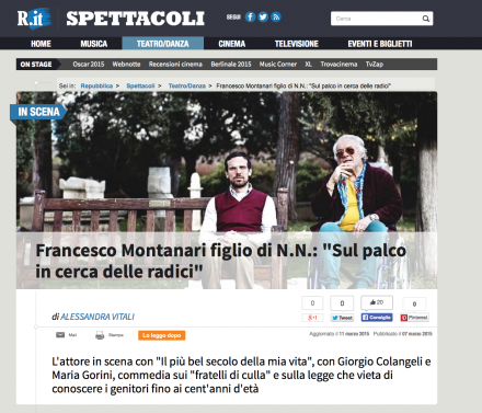 FRANCESCO MONTANARI SU REPUBBLICA.IT