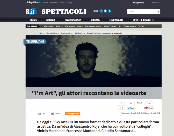 I'M ART SU REPUBBLICA.IT