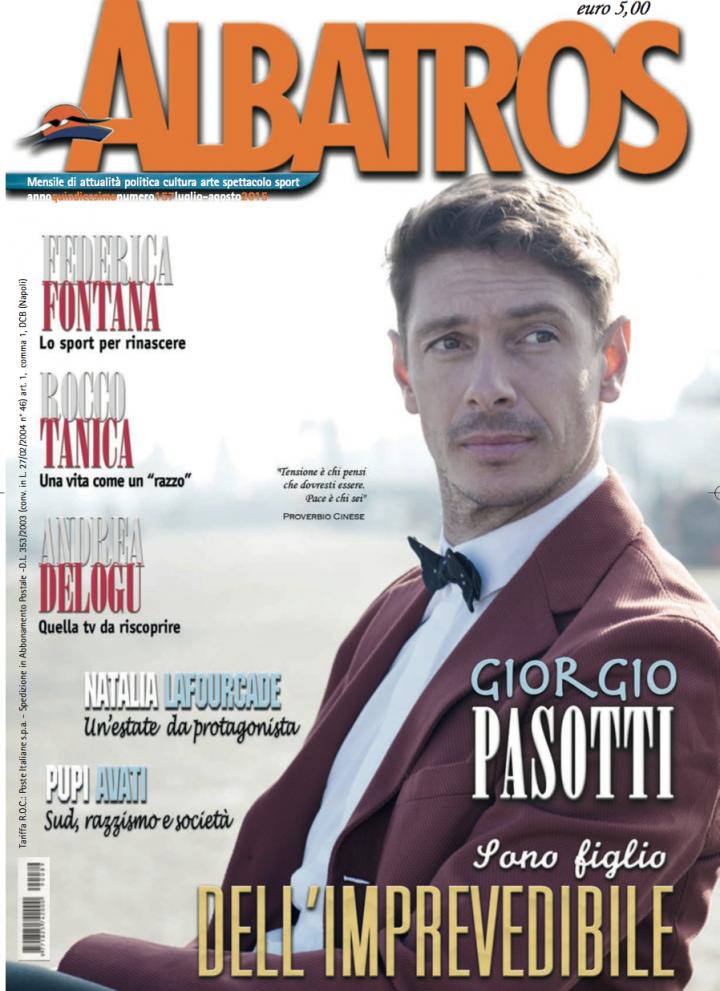 GIORGIO PASOTTI PER LA COVER STORY ALBATROS DI AGOSTO