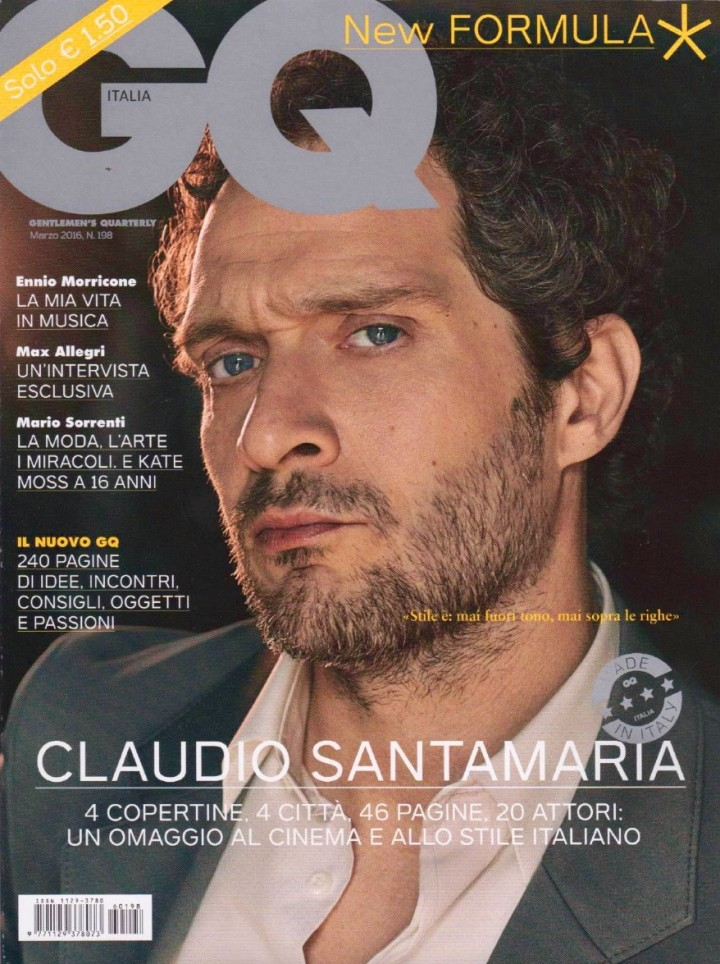 CLAUDIO SANTAMARIA IN COVER PER GQ DI MARZO