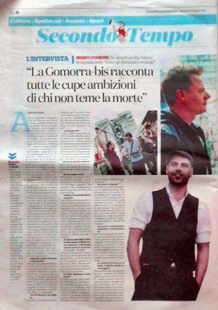 MARCO D'AMORE SU IL FATTO QUOTIDIANO