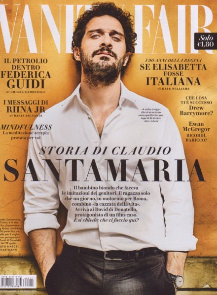 CLAUDIO SANTAMARIA IN COVER SU VANITY FAIR