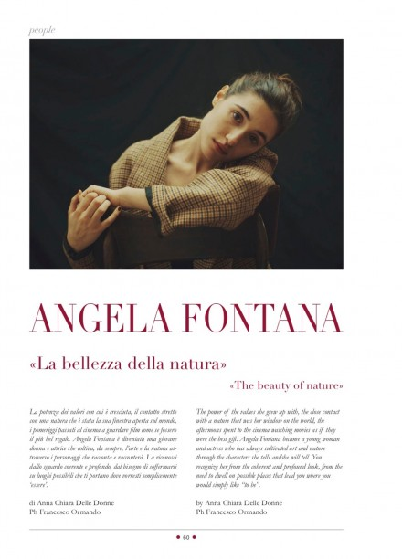 ANGELA FONTANA SU RED CARPET MAGAZINE