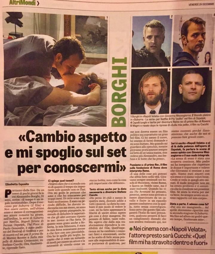 ALESSANDRO BORGHI SU LA GAZZETTA DELLO SPORT