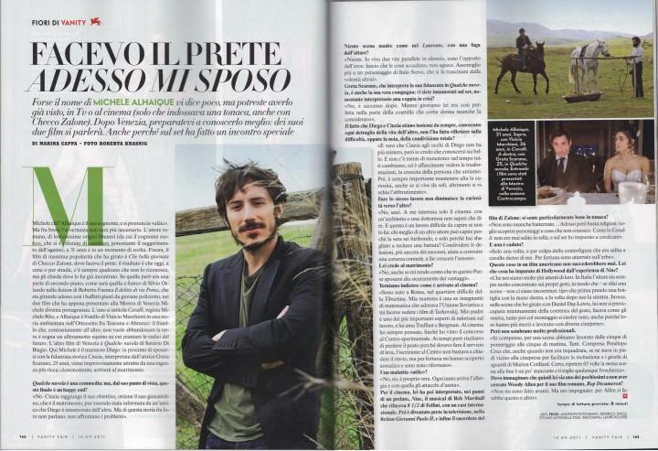 VANITY FAIR INTERVISTA MICHELE ALHAIQUE