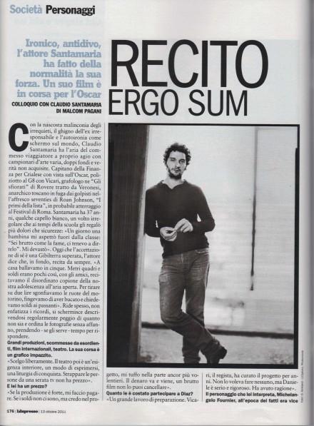 L'ESPRESSO INTERVISTA CLAUDIO SANTAMARIA
