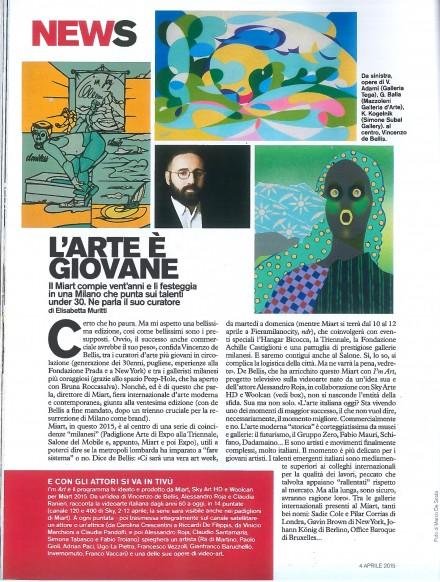 Su D di Repubblica il progetto I'M ART, una collaborazione MIART, SKY ARTE HD e WOOLCAN
