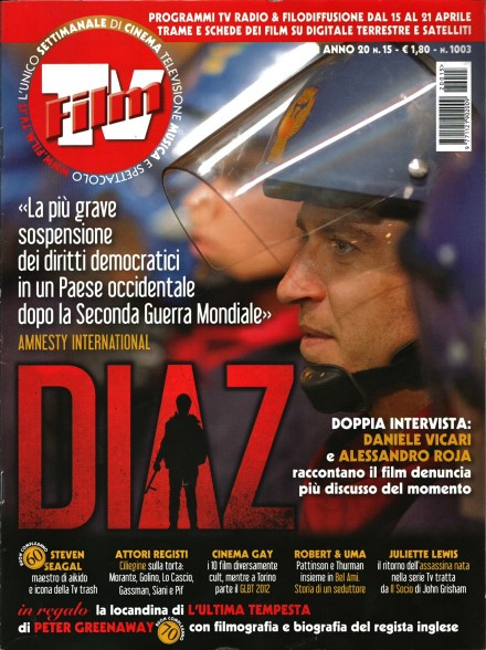 ALESSANDRO ROJA IN COVER SU FILM TV