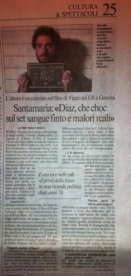 INTERVISTA A CLAUDIO SANTAMARIA