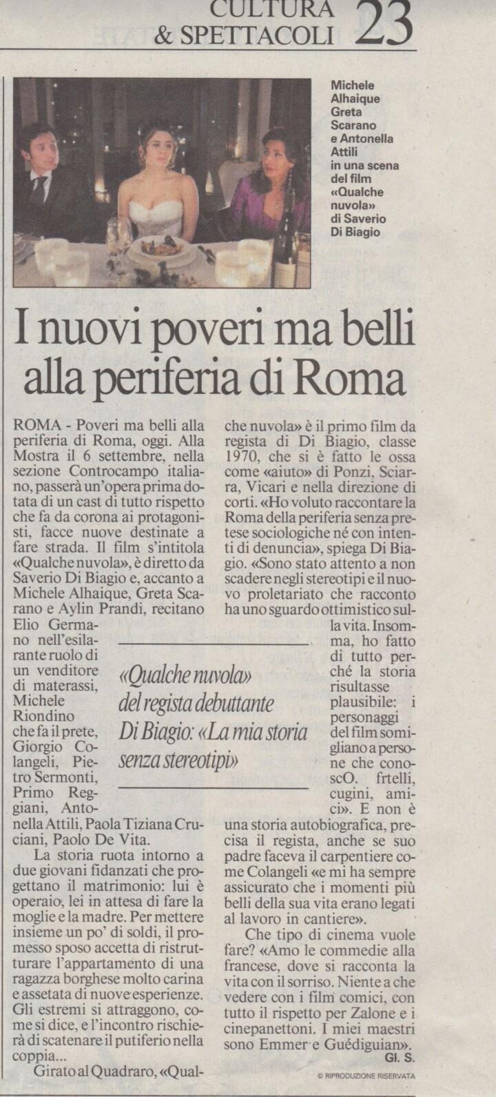 I NUOVI POVERI MA BELLI ALLA PERIFERIA DI ROMA – MESSAGGERO