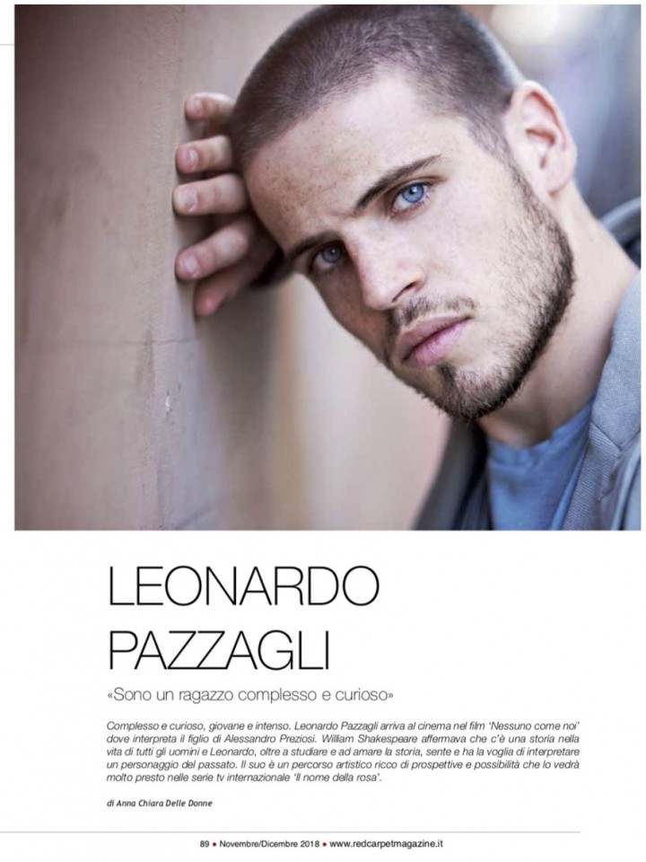 LEONARDO PAZZAGLI SU RED CARPET MAGAZINE