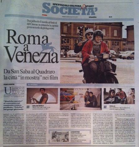 """ROMA A VENEZIA – LA CITTA' """"IN MOSTRA"""" NEI FILM"""